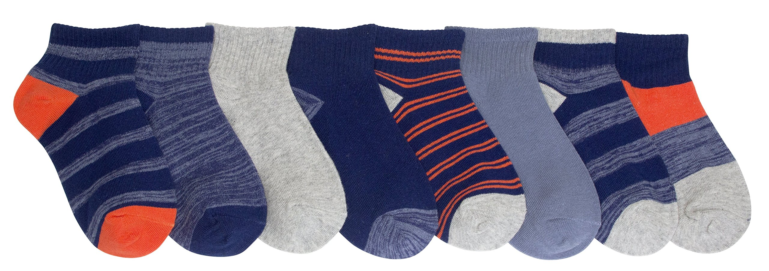 Stride Rite Toddler Boys' 8-Pack, Random Feed Quarter Length, Sock: 6-7.5 / Shoes: 7-10