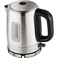 AmazonBasics Stainless Steel Porrtable Electric Hot Water Kettle - 1 Liter, Silver