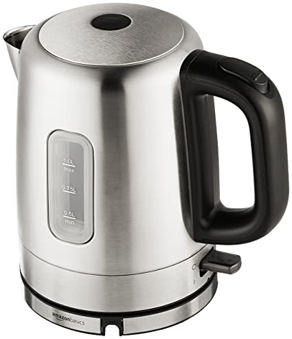 Amazon Com Amazonbasics Stainless Steel Electric Kettle 1 Liter