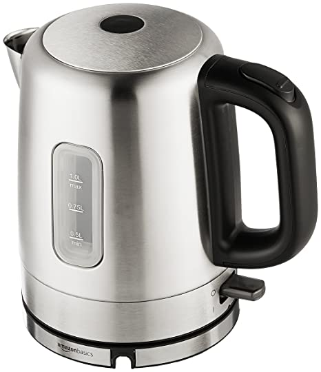 f72611e57 Amazon.com  AmazonBasics Stainless Steel Electric Kettle - 1-Liter  Kitchen    Dining
