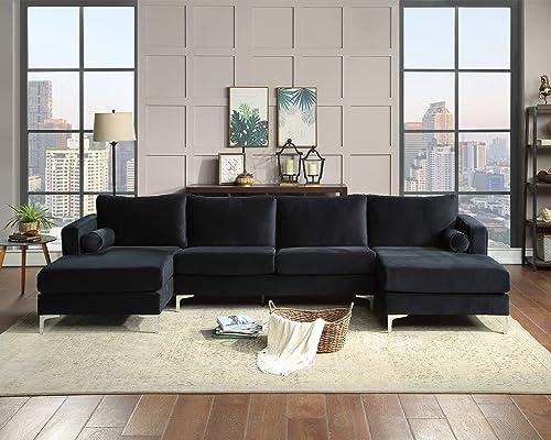 Sectional Sofa Sets Modern Elegant Velvet