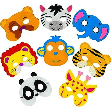 Amazon.com: Máscaras para fiesta de niños con diseño de ...
