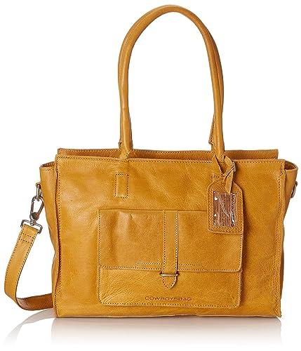 Cowboysbag - Bag Edgemore 15 Inch, Carteras de mano con asa Mujer, Amarillo (