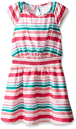 5df21d7a11d2 Amazon.com: Gymboree Girls' Big Multi Stripe Knit Dress, 7: Clothing