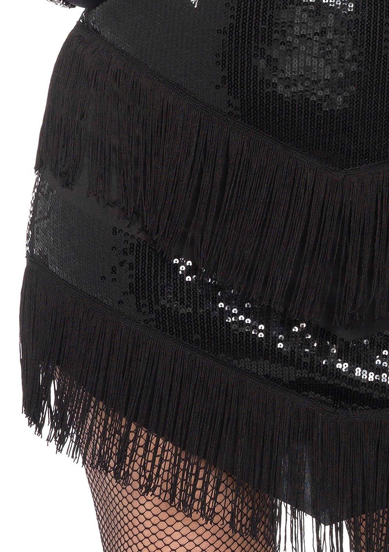 Leg Leg Leg Avenue 85474X - Glamour Flapper Damenkostüm Set, Größe 3X-4X EUR 48-50, schwarz/Silber a85e86