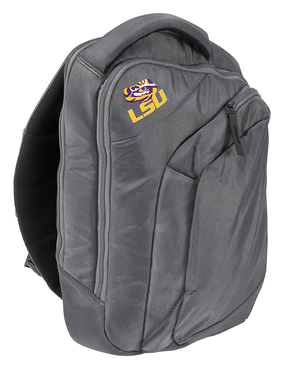 647b42c3edb0 Amazon.com   Logo Brands NCAA LSU Game Changer Sling Backpack   Sports    Outdoors