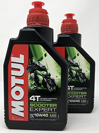 Aceite Moto 4 Tiempos - Motul Scooter 4T 10W-40 MB, 2 litros (