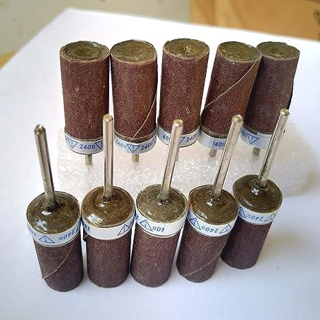 Grit: 600# Aluminium Oxide Abrasive Sandpaper Sanding Rolls with 3//32 Mandrel PK10