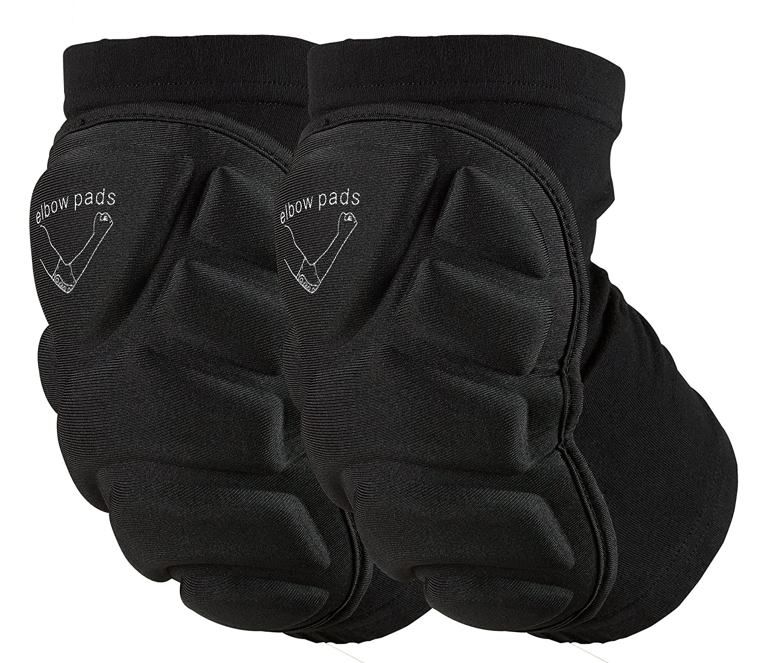 OMID Elbow Pads - Breathable Lightweight Padded Elbow Sleeve for Skiing, Skating, Skateboarding & Cycling