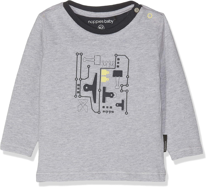 Noppies B tee LS Vincent Camiseta de Manga Larga Unisex beb/é