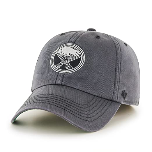 844667c3abbf1f '47 NHL Buffalo Sabres Sachem Franchise Fitted Hat, Small, Charcoal