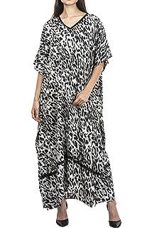 aa05413758 Miss Lavish London Frauen Kaftan Tunika Kimono Stil Plus Größe Maxi für  Loungewear Ferien Nachtwäsche &