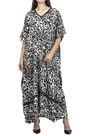 a90ec86310 Image Unavailable. Image not available for. Colour  Miss Lavish Women s  Kaftan Tunic Kimono Maxi Dress Summer Beach Cover Up Plus Size ...