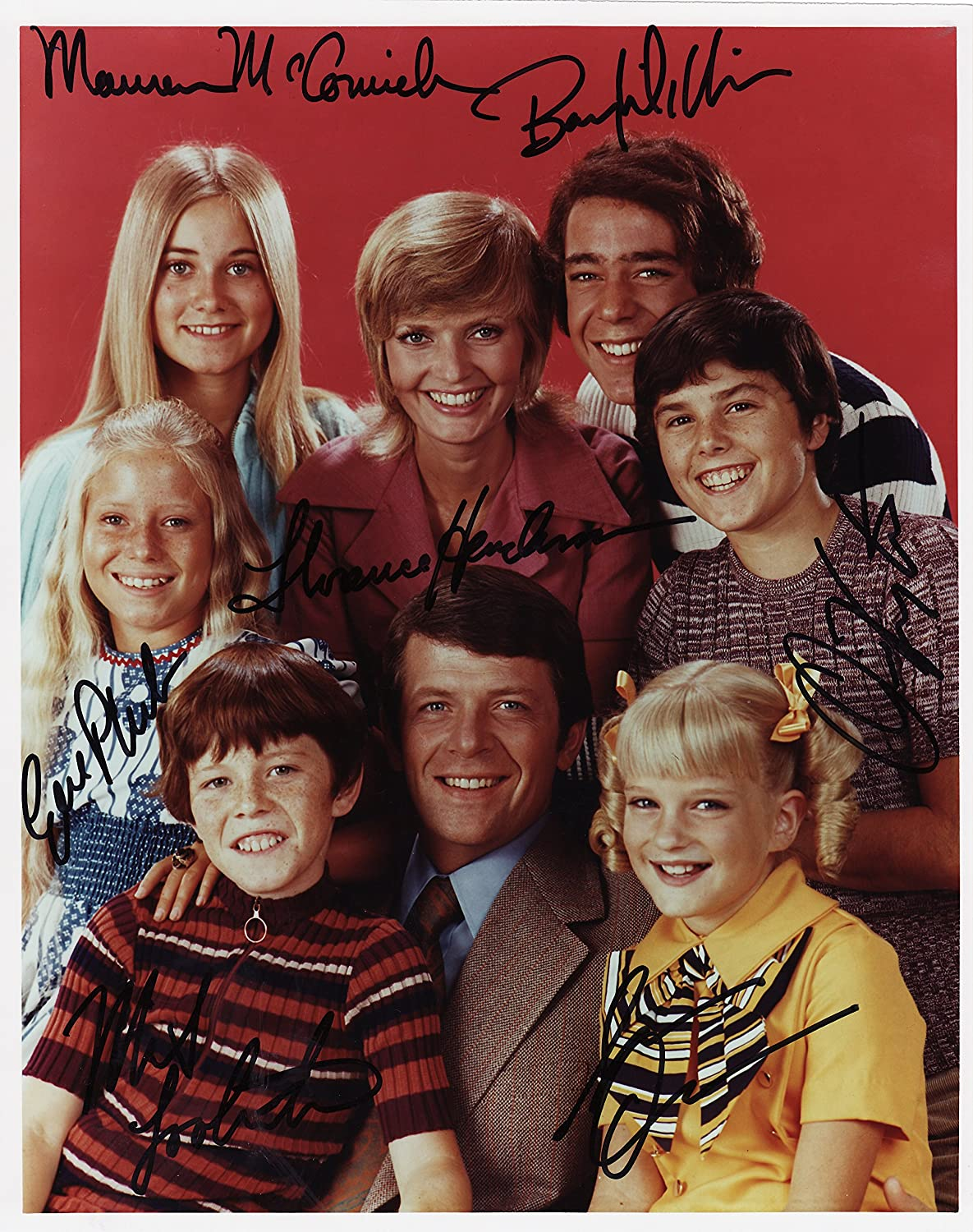 The Brady Bunch Florence Henderson Cast Signed Autographed 8 X 10 Reprint Photo - Mint Condition