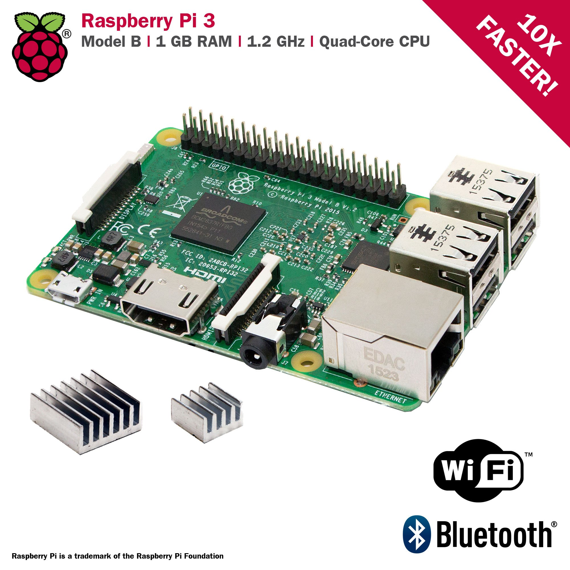 CanaKit Raspberry Pi 3 Kit with Clear Case and 2.5A Power Supply by CanaKit (Image #4)