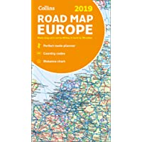 2019 Collins Map of Europe (Collins Maps)