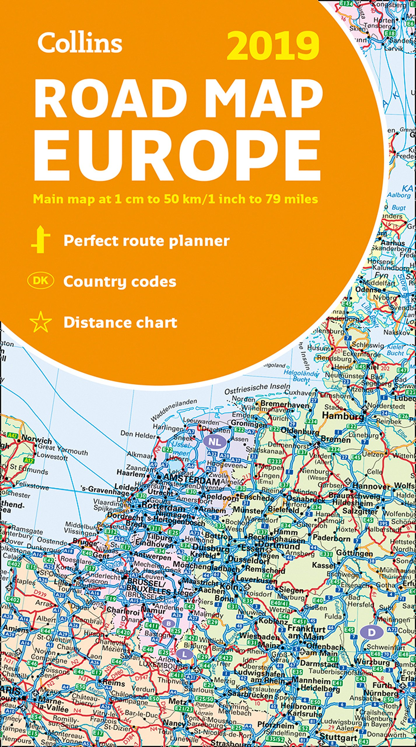 2019 Collins Map Of Europe Collins Maps Amazon Co Uk Collins