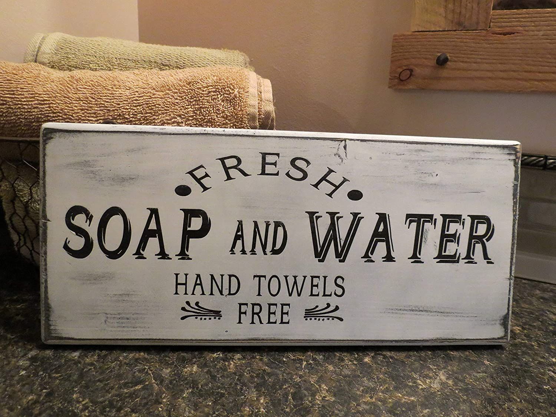 Primitive Country Farmhouse Chic Bath SOAP /& CUP HOLDER Tin Wall Shelf Holder