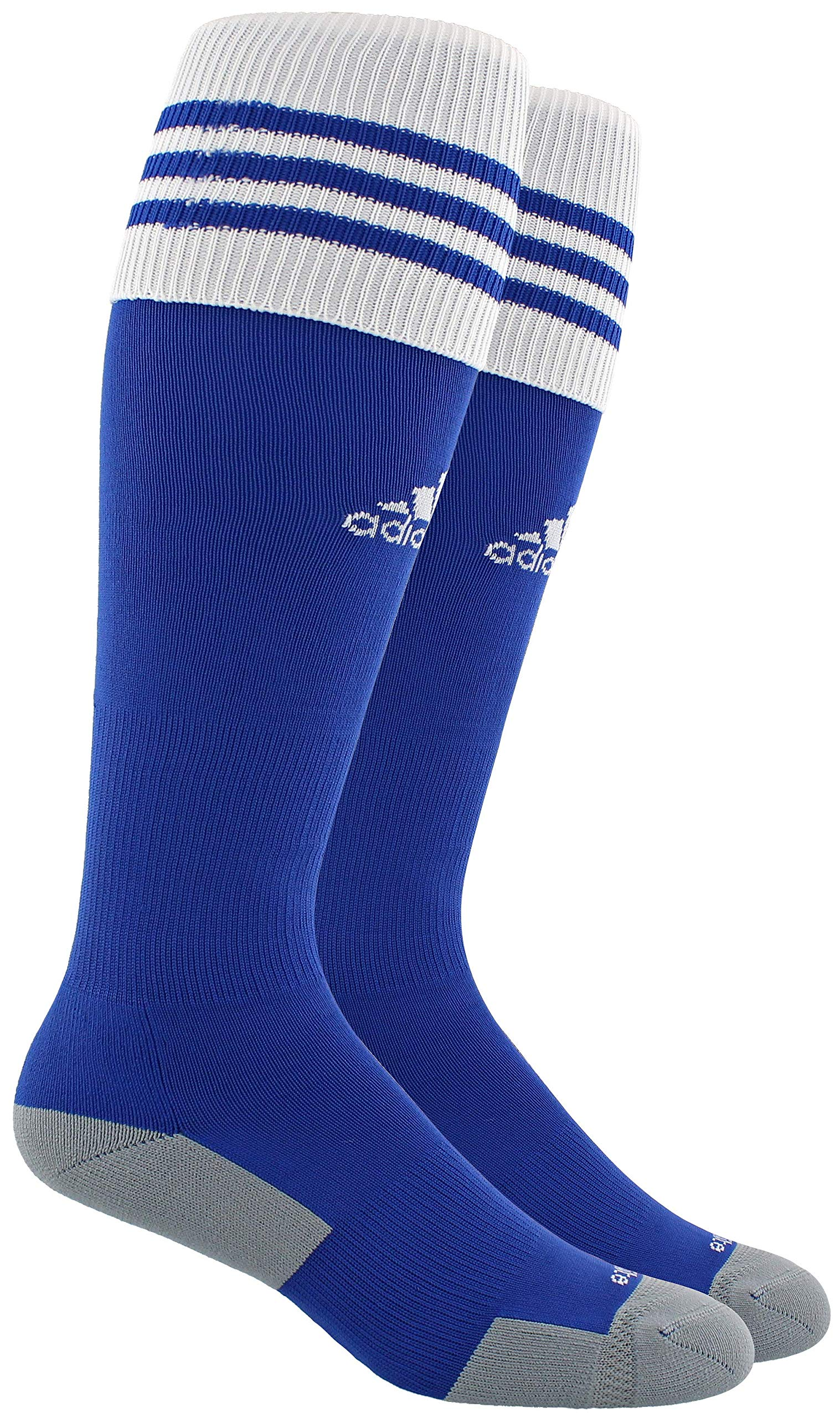 adidas Unisex Copa Zone Cushion II Soccer Sock (1-Pair), Cobalt/White, 13C-4Y by adidas