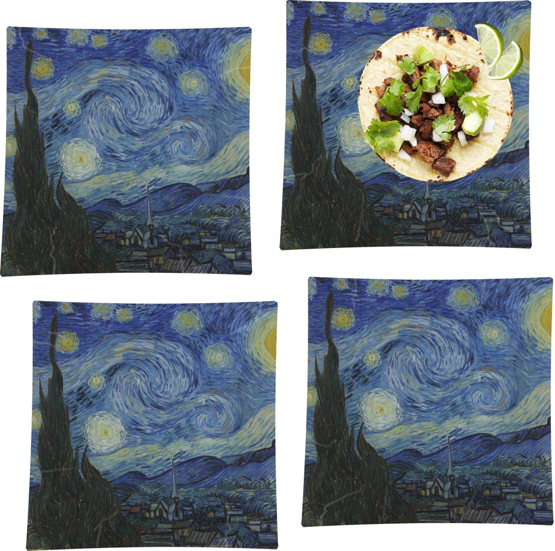 La noche estrellada (Van Gogh 1889) Juego de 4 - platos llanos ...