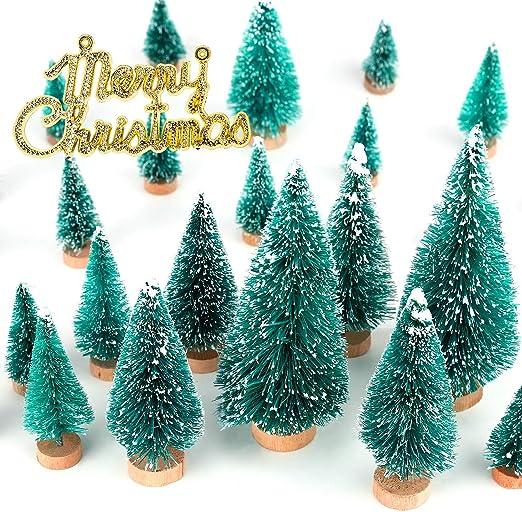 Suministros Regalos Decoración de Navidad de Árbol de Navidad Mini Escritorio Adornos De Madera