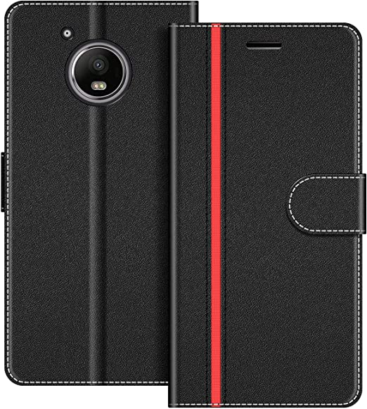 COODIO Funda Motorola Moto G5 Plus con Tapa, Funda Movil Motorola ...