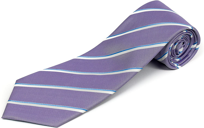 Corbata extra larga para hombres grandes y altos, 100% seda, rayas ...