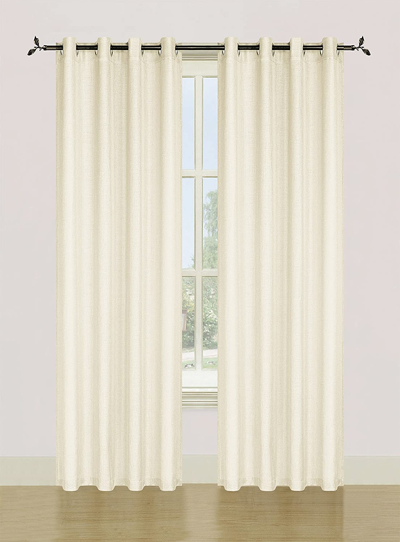 108x84 White 108x84/'/' White Dainty Home Ellen Tracy SPEC10884WH Spectrum Grommet Window Panel Pair by Ellen Tracy