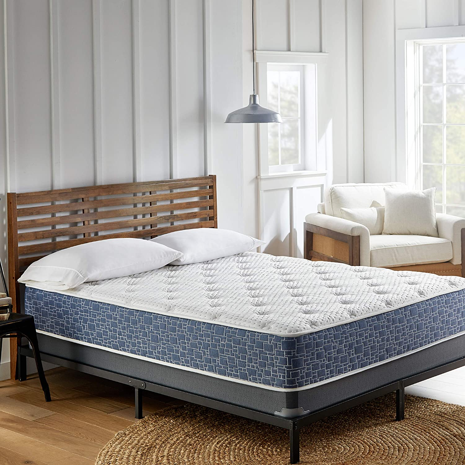 AMERICAN BEDDING 11-inch Medium Top Hybrid, Gel Memory Foam, Firm Support Foam, Pocketed Coil Spring Mattress, Comfort, Refreshing Coolness, King