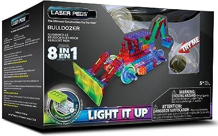 Laser Pegs 8-in-1 Bulldozer Building Set