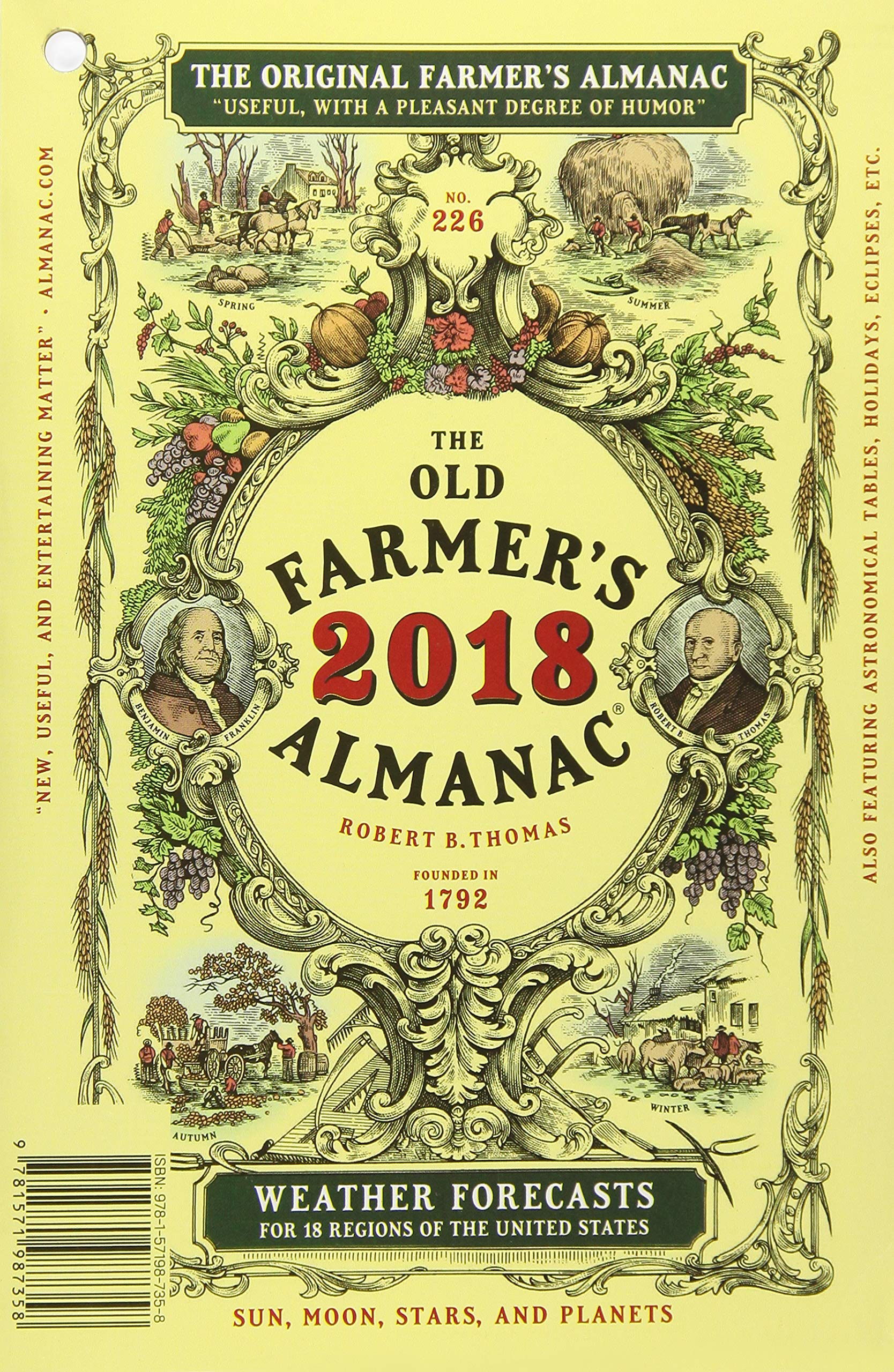 Amazon.com: The Old Farmer's Almanac 2018 (9781571987358): Old Farmer's  Almanac: Books
