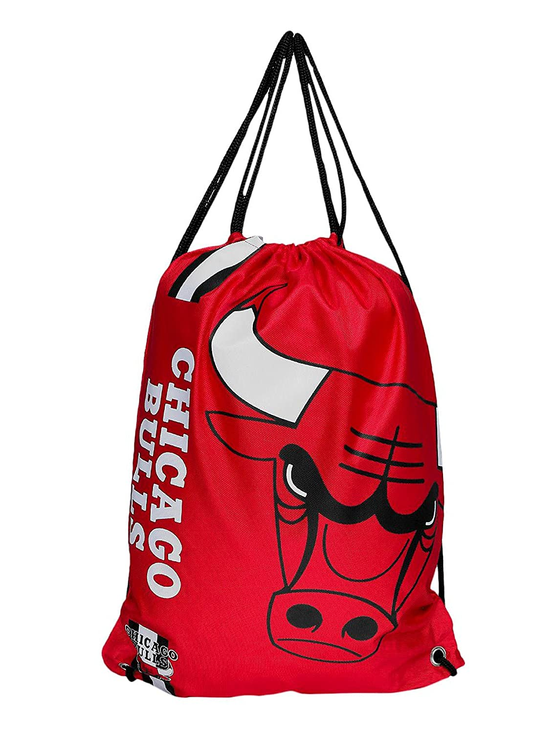 Forever Collectibles Chicago Bulls Cropped Logo Drawstring Backpack Gym Sack FCGBCROP01