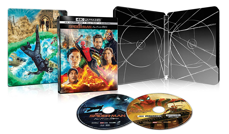 Spider-Man: Far from Home [Exclusive SteelBook] (4K ULTRA HD + BLU-RAY + DIGITAL, 2019)