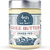 4th & Heart Grass-Fed Ghee Butter, Himalayan Pink Salt, 9 Ounce, Pasture Raised, Non-GMO, Lactose Free, Certified Paleo