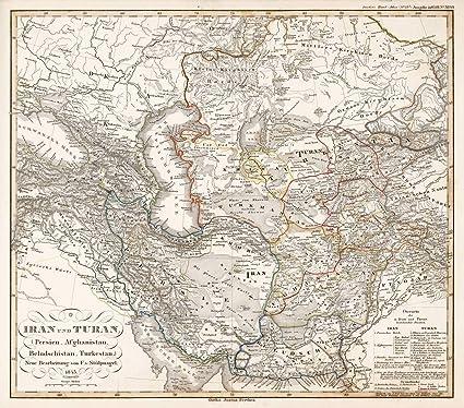 Amazon Com Historic Map Iran Und Turan Kazakhstan Persien