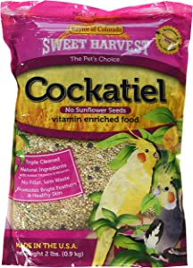 Sweet Harvest Kaylor-Made Cockatiel Food Without Sunflower