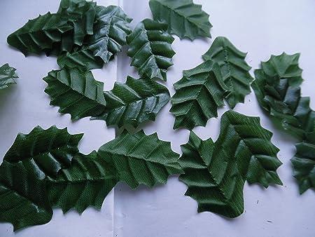 100 Large Silk Holly Leaves Craftwedding Decoration Christmas