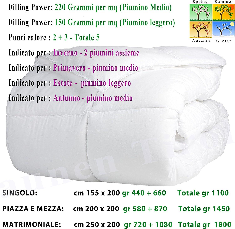 Caldissimo! LAUNEN TIROL dal Trentino Alto Adige Piumone Piumino Invernale 4 STAGIONI SINGOLO 150 x 200 in vera Piuma d Oca