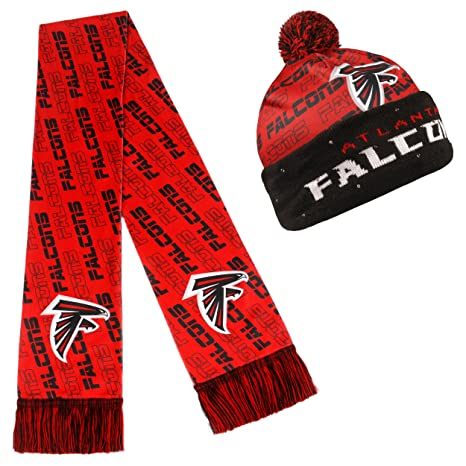 6469ec5dac1 Amazon.com   NFL Adult s Light Up Printed Beanie And Scarf Set ...
