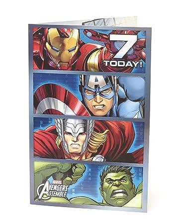 Amazon.com: Marvel Avengers Assemble – Edad 7 – Tarjeta de ...