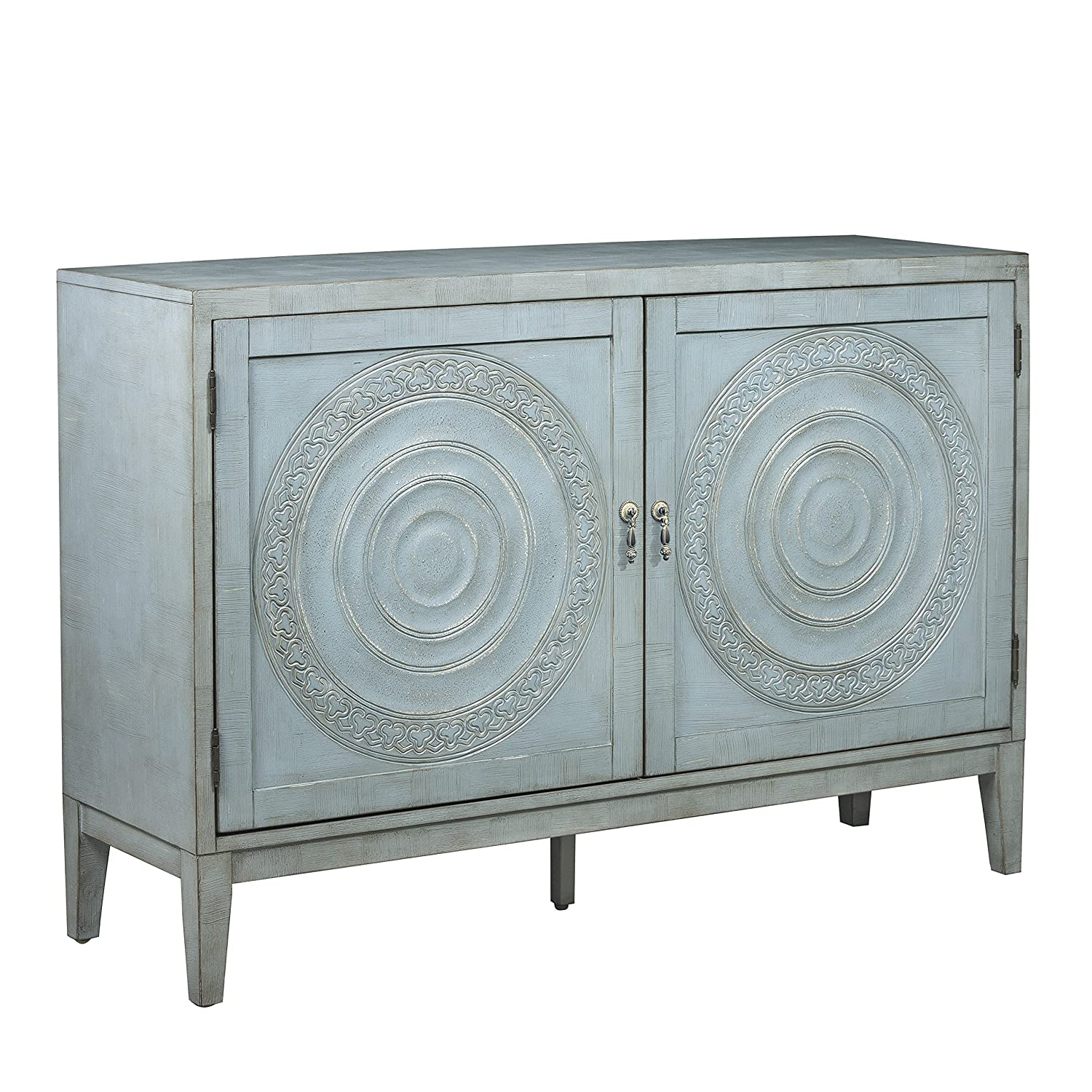 Antiqued Blue Console Table