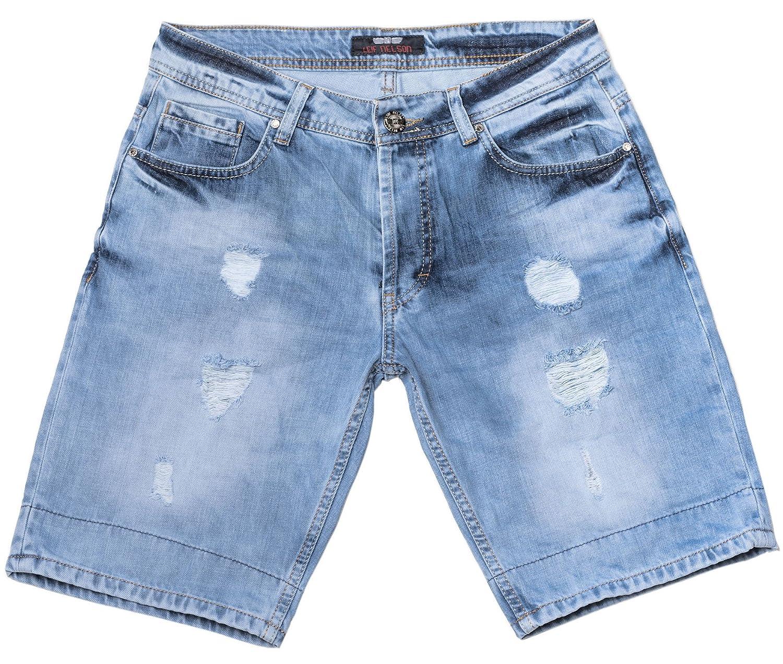 LEIF NELSON Herren Jeans Shorts LN1384 2748 Herrenmode