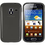 mumbi TPU Silikon Schutzhülle für Samsung Galaxy Ace 2 I8160 Hülle transparent schwarz
