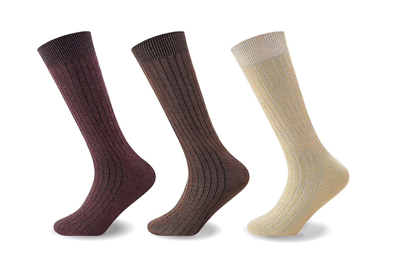 Mymixtrendz/® Calzini da uomo in cotone al 100/% a coste Calzini da giorno Confezione da 12 pezzi
