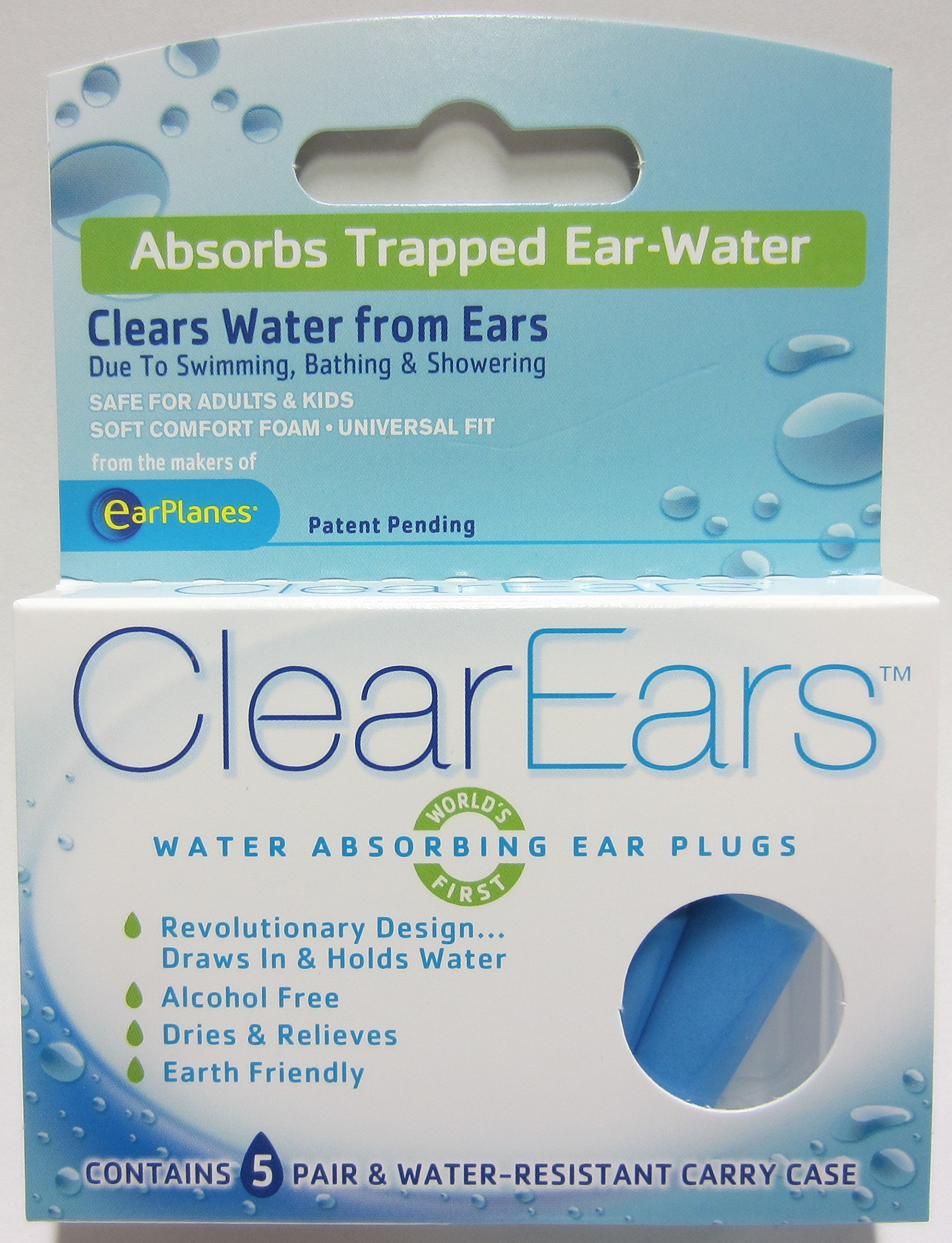ClearEars® Water Removing Earplugs 3 Pack VALUE PACK (30 count)
