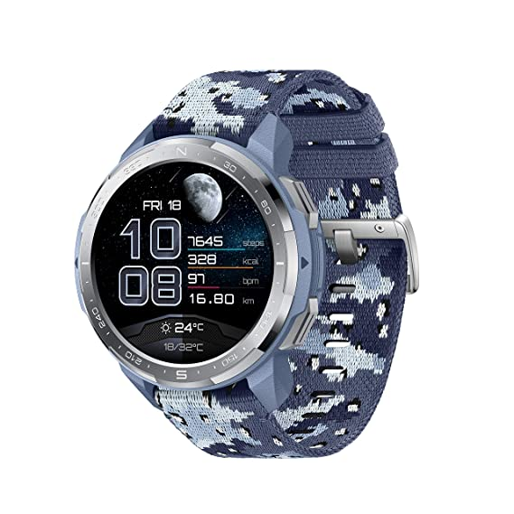 [Apply coupon] Honor Watch GS Pro (Camo Blue), Upto 25-Days Battery Life,14 MIL-STD-810G Tests, GPS Route Back, BT Calling,SpO2,Sleep, Stress & HR Monitor,100+ Workout Modes, Music Control & Storage,Smart Assistant