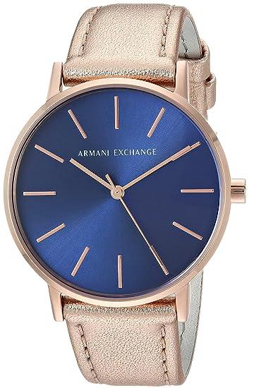 4be032fcde65 Armani Exchange Mujer Oro Rosa Reloj de piel ax5547  Amazon.com.mx ...