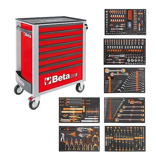 BETA Easy 400S-O8/E-XL 024002293 Carro de herramientas con 8 cajones con surtido de herramientas de 384 piezas, naranja: Amazon.es: Bricolaje y herramientas