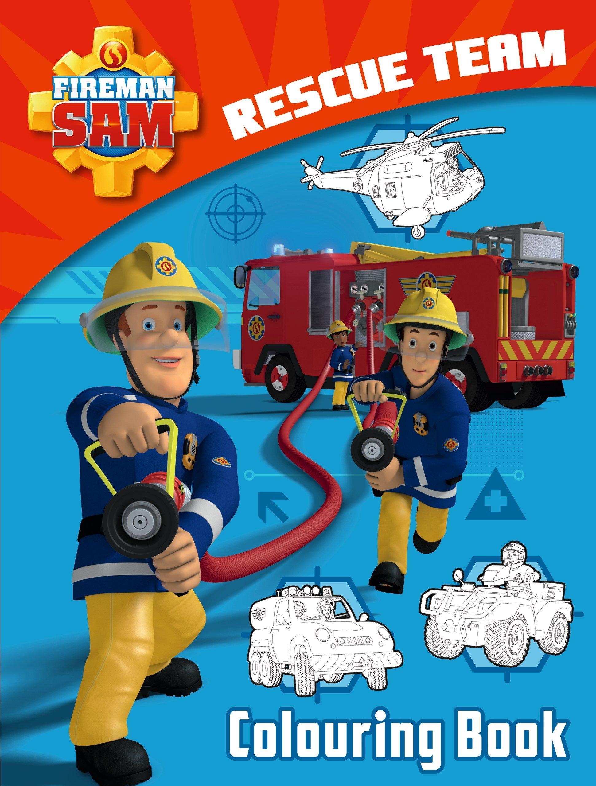 Fireman Sam: Rescue Team Colouring Book: Amazon.de ...