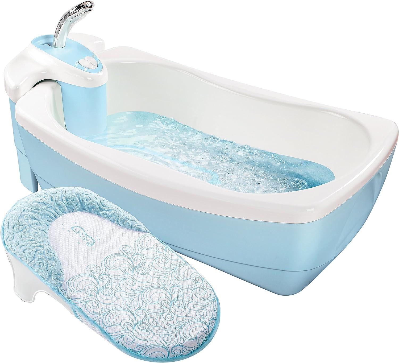 Summer Infant Lil Lujos Whirlpool Bath Spa de hidromasaje Y Burbuja Azul/Blanco